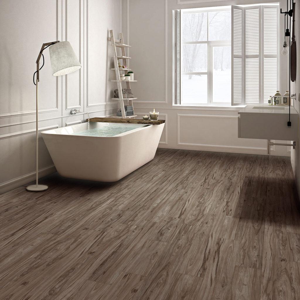 Grizedale LVT Flooring used in a bathroom